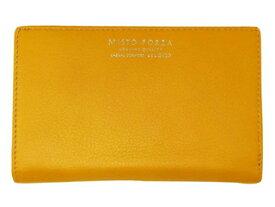 Misto Forza/ミストフォルツァ FMW03 イタリアンレザー二つ折りラウンド財布 (イエロー)