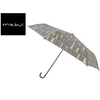 mabu world/マブワールド MBU-MLM13 折りたたみ傘 手開き 日傘/晴雨兼用傘 レジェ フラット 全16色 49.5cm (パヴェグレー)
