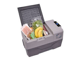 【2泊以上のキャンプやBBQ・防災・停電対策にも!】バッテリー内蔵30Lひえひえ冷蔵冷凍庫CLBOX30L