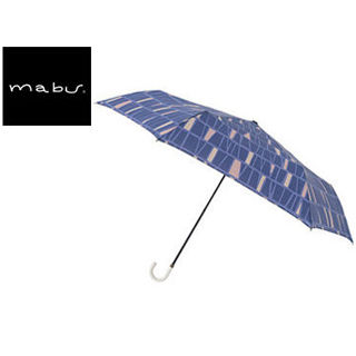 mabu world/マブワールド MBU-MLM14 折りたたみ傘 手開き 日傘/晴雨兼用傘 レジェ フラット 全16色 49.5cm (パヴェブルー)