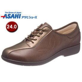 ASAHI/アサヒシューズ KS23512 快歩主義 L135 レディース ウォーキングシューズ 【24.0cm・3E】 (ブラウン)