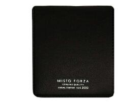 Misto Forza/ミストフォルツァ FMW04 イタリアンレザーカードケース付き二つ折り財布 (ブラック)