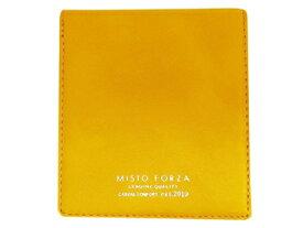 Misto Forza/ミストフォルツァ FMW04 イタリアンレザーカードケース付き二つ折り財布 (イエロー)