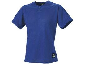 SSK/エスエスケイ BW1660-63 2ボタンプレゲームシャツ(無地) 【M】 (Dブルー)