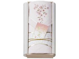 瀧定大阪 王華 木箱入りさくら刺繍シルク混綿毛布(毛羽部分) ピンク OK1708
