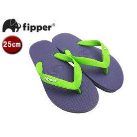 fipper/フィッパー FJ02-SK19 ビーチサンダル スリップ防止タイプ 天然ゴム製 【25cm(UK06)】 (パープル/グリーン)