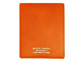 Misto Forza/ミストフォルツァ FMW04 イタリアンレザーカードケース付き二つ折り財布 (オレンジ)