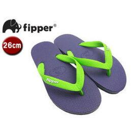 fipper/フィッパー FJ02-SK19 ビーチサンダル スリップ防止タイプ 天然ゴム製 【26cm(UK07)】 (パープル/グリーン)
