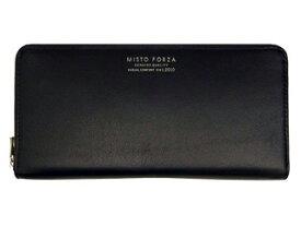 Misto Forza/ミストフォルツァ FMW05 イタリアンレザーラウンドファスナー長財布 (ブラック)