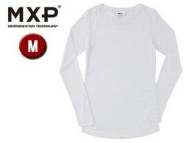 MXP/エムエックスピー MW15341-W クルーネック長袖シャツ レディース 【M】(ホワイト)