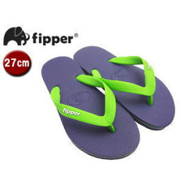 fipper/フィッパー FJ02-SK19 ビーチサンダル スリップ防止タイプ 天然ゴム製 【27cm(UK08)】 (パープル/グリーン)