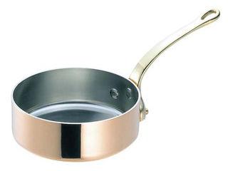 WADASUKE/和田助製作所 SW 銅 極厚 浅型 片手鍋 蓋無(真鍮柄)18cm