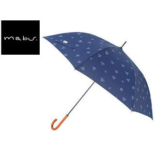 mabu world/マブワールド MBU-MCJ07 mabu×ことりっぷ 長傘 ジャンプ 日傘/晴雨兼用傘 ワンタッチスリム 全12色 58cm (07)