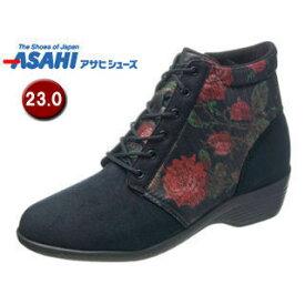ASAHI/アサヒシューズ KS23423 快歩主義 L126AC レディース カジュアルブーツ 【23.0cm・3E】 (ブラック)