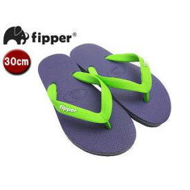 fipper/フィッパー FJ02-SK19 ビーチサンダル スリップ防止タイプ 天然ゴム製 【30cm(UK11)】 (パープル/グリーン)