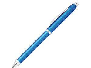 CROSS / クロス 複合ペン テックスリー 【 メタリックブルー NAT0090-8ST 】 黒赤&0.5mmペンシル