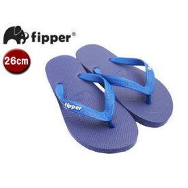 fipper/フィッパー FJ02-SK20 ビーチサンダル スリップ防止タイプ 天然ゴム製 【26cm(UK07)】 (パープル/ブルー)