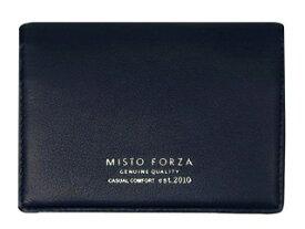 Misto Forza/ミストフォルツァ FMW06 イタリアンレザー名刺入れ (ネイビー)