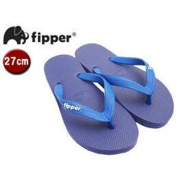 fipper/フィッパー FJ02-SK20 ビーチサンダル スリップ防止タイプ 天然ゴム製 【27cm(UK08)】 (パープル/ブルー)
