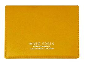 Misto Forza/ミストフォルツァ FMW06 イタリアンレザー名刺入れ (イエロー)