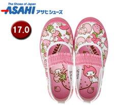 ASAHI/アサヒシューズ KD37171-1 マイメロディ S02 上履き 【17.0cm・2E】 (ピンク)