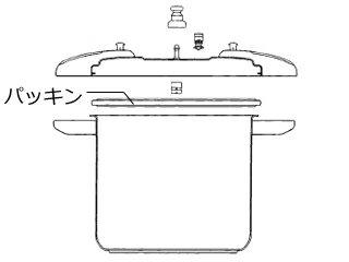 Wonder chef/ワンダーシェフ P圧力鍋部品 15〜20L用 パッキン(28cm)600851
