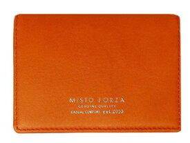 Misto Forza/ミストフォルツァ FMW06 イタリアンレザー名刺入れ (オレンジ)