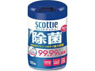 Crecia/日本製紙クレシア スコッティ ウェットティシュー除菌 アルコールタイプ 100枚 76985