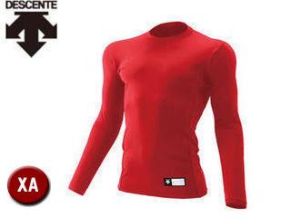 DESCENTE/デサント STD751-RED 丸首 長袖 リラックスFITシャツ 【XA】 (レッド)