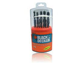 BLACK&DECKER/ブラック&デッカー 15086 HSS木工用(ブラッドポイント)ドリルビット13本セット