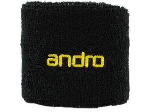 andro/アンドロ 卓球アクセサリー WRISTBAND ANDRO (リストバンド アンドロ ) ブラック×イエロー