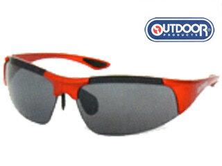 OUTDOOR PRODUCTS/アウトドアプロダクツ ODP-4011-4 グラス(フレーム:メタリックレッド) (レンズ:スモーク・フラッシュミラー)