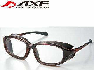 AXE/アックス EC-607L EYES CURE/アイキュア ロービジョンケアグラス ワイドフレーム ドライアイ・花粉対策 (BR) ※遮光レンズ・度付きレンズの装着は眼鏡店、専門店での対応となります。