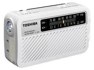 TOSHIBA/東芝 【12月末】TY-JKR5-W(ホワイト) FM/AM充電ラジオ