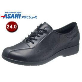 ASAHI/アサヒシューズ KS23514 快歩主義 L135 レディース ウォーキングシューズ 【24.0cm・3E】 (ブラック)