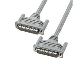 サンワサプライ RS-232Cケーブル(25pin/モデム・TA・切替器) 1.5m ライトグレー KRS-101K2