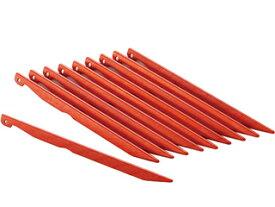HCS/エイチシーエス OGK3105SET アルミカラーペグ10本セット (オレンジ)