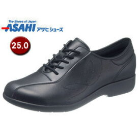 ASAHI/アサヒシューズ KS23514 快歩主義 L135 レディース ウォーキングシューズ 【25.0cm・3E】 (ブラック)