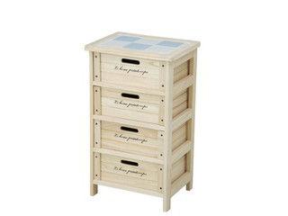 FBC/不二貿易 【納期未定】木製4段ボックス HF05-003(N) 68094
