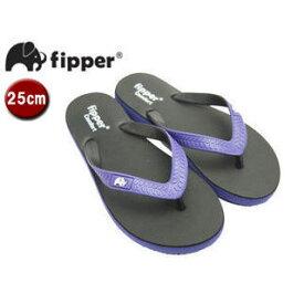 fipper/フィッパー FJ02-C02 ビーチサンダル コンフォートタイプ 【25cm(UK06)】 (ブラック・パープル/パープル・ブラック)