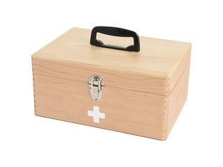 茶谷産業 国産木製救急箱 048-300