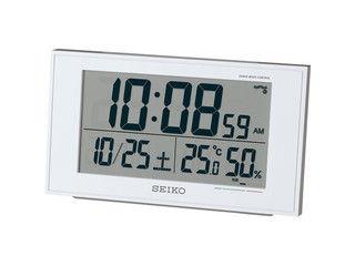 SEIKO/セイコークロック 電波目覚まし時計 SQ758W