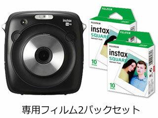 FUJIFILM/フジフイルム instax SQUARE SQ10+専用フィルム2パック(10枚×2)セット 【instaxset】