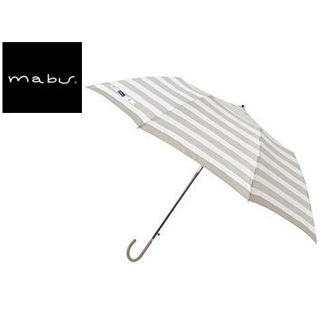 【nightsale】 mabu world/マブワールド MBU-MRJ02 折りたたみ傘 ジャンプ 日傘/晴雨兼用傘 ラクジャン 全4色 55cm (セピアストライプ)