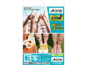 A・one/エーワン 52102 転写シール 透明タイプ A4 4セット入