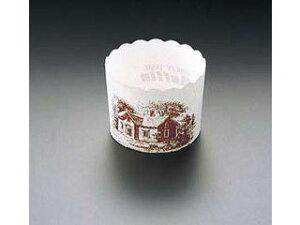 TEMMA/天満紙器 マフィンカップハウス柄 白 M−405 (100枚入)