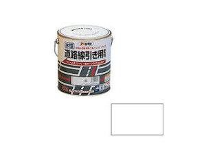 ASAHIPEN/アサヒペン 水性道路線引き用塗料 4kg 白