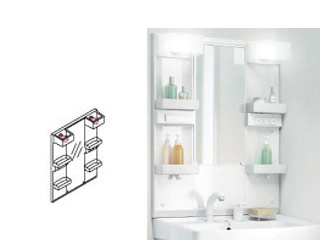 【時間帯指定不可】 LIXIL/リクシル 【時間帯指定不可】【INAX】洗面化粧台用化粧鏡750mm D7 一面鏡LED くもり止めコート付 MD7X2-751YFJU