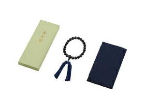 青トラメ石念珠 ふくさセット 1711KC034