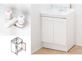【時間帯指定不可】 LIXIL/リクシル 【INAX】洗面化粧台600mm V1 両開き 2ハンドル混合水栓 V1N-600/VP1H
